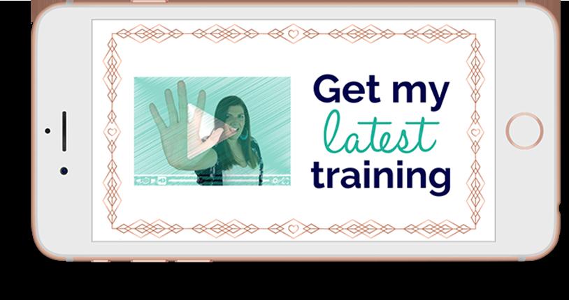 Get my latest training